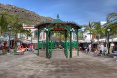Vierkant in Puerto DE Mogan, Gran Canaria, Spanje stock foto's