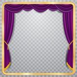 Vierkant purper stadium royalty-vrije illustratie