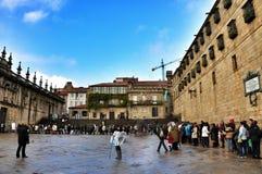 Vierkant in Santiago de Compostela, Spanje stock afbeeldingen
