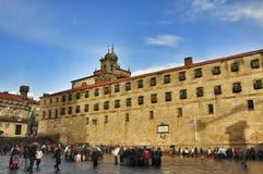 Vierkant in Santiago de Compostela, Spanje royalty-vrije stock afbeelding