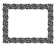 Vierkant sierkader in zwarte Royalty-vrije Stock Fotografie
