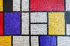 Vierkant steen het betegelen mozaïek, kleurrijke achtergrond Royalty-vrije Stock Foto