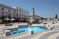 Vierkant in Tavira, Portugal Royalty-vrije Stock Foto's