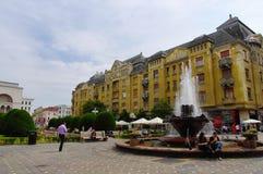 Vierkant 02, Timisoara, Roemenië van de Unie Stock Foto's
