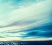 Vierkant uitstekend oceaanlandschap Stock Foto