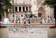 Vierkant in Valencia Royalty-vrije Stock Foto