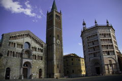 vierkant van baptistery Parma   stock foto's