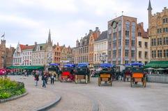 Vierkant van Brugge Stock Foto's