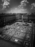 Vierkant van de Kathedraal in Milaan stock foto's