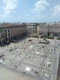 Vierkant van de Kathedraal in Milaan stock fotografie