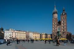 Vierkant van de Stad van Krakau het Oude Stock Fotografie