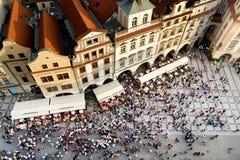 Vierkant van de Stad van Praag het Oude Stock Fotografie