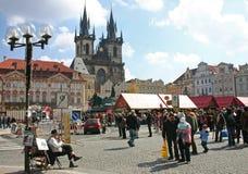 Vierkant van de stadsTyn van Praag het Oude Stock Fotografie