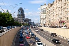 Vierkant van de straat het dichtbijgelegen Triumph van de tuinring in Moskou Stock Foto