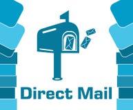 Vierkant van direct mail het Blauwe Abstracte Vormen royalty-vrije illustratie