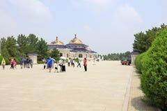 Vierkant van genghis khan mausoleum, rgb adobe stock foto's