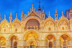 Vierkant van het Heilige Teken ` s Cathed van Mark Piazza San Marco en St Royalty-vrije Stock Afbeeldingen