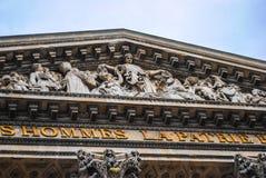 Vierkant van het Pantheon Parijs. Stock Foto