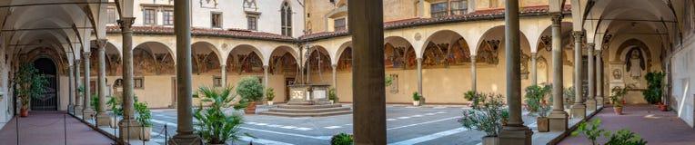 Vierkant van het ziekenhuis Florencia Italia royalty-vrije stock foto