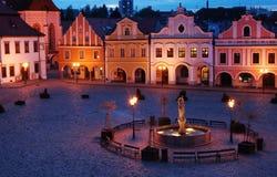 Vierkant van kleine stad Royalty-vrije Stock Foto