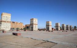 Vierkant van Marrakech, Marokko Stock Afbeeldingen