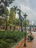 Vierkant van Medellin Colombia stock afbeelding