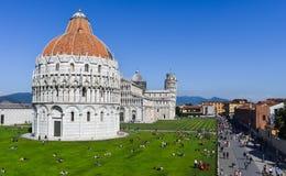 Vierkant van Mirakelen, Pisa stock foto