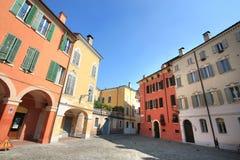 Vierkant van Modena met de oude bouw Royalty-vrije Stock Foto