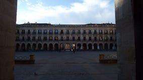Vierkant van Vitoria het Oude Gebouwen Stock Afbeeldingen