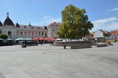 Vierkant van vrijheid op stad Tuzla Royalty-vrije Stock Afbeeldingen
