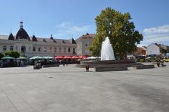 Vierkant van vrijheid op stad Tuzla Stock Afbeeldingen