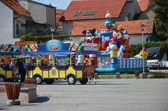 Vierkant van vrijheid op stad Tuzla Stock Foto
