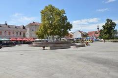 Vierkant van vrijheid op stad Tuzla Stock Fotografie