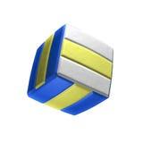 Vierkant volleyballpictogram op witte achtergrond Royalty-vrije Stock Foto's