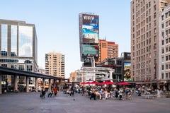 Vierkant yonge-Dundas in Toronto, Canada Royalty-vrije Stock Fotografie
