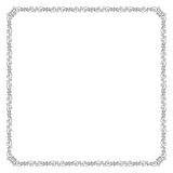 Vierkant zwart overladen kader Royalty-vrije Stock Foto