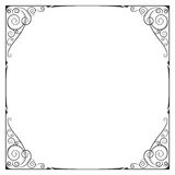 Vierkant zwart overladen kader Stock Foto's