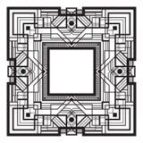 Vierkant zwart retro kader Stock Foto