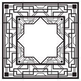 Vierkant zwart retro kader Royalty-vrije Stock Afbeeldingen