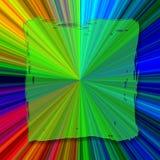 Vierkante Abstracte kleurenachtergrond Stock Illustratie