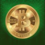 Vierkante achtergrond met bitcoin Royalty-vrije Stock Afbeelding