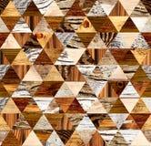 Vierkante achtergrond met houten patronen Stock Fotografie