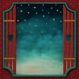 Vierkante achtergrond met uitstekend kader 2. Royalty-vrije Stock Foto's