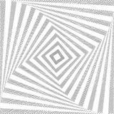 Vierkante achtergrond van de ontwerp de zwart-wit draai Royalty-vrije Stock Foto's