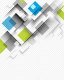 Vierkante achtergrondconceptenvector Stock Fotografie