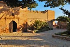 Vierkante Alcazaba Stock Foto's