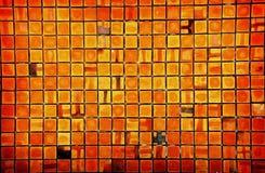 Vierkante bakstenen muur Stock Foto's