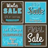 Vierkante banners met verkoopaanbieding, vector Royalty-vrije Stock Fotografie