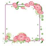 Vierkante bloemenachtergrond Stock Afbeeldingen