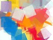 Vierkante borstels Stock Afbeeldingen